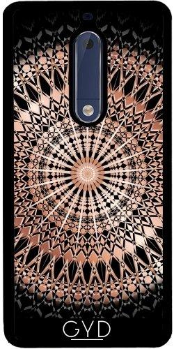 Funda de silicona para Nokia 5 - Mandala De Rosa De Oro Negro by Nina Baydur