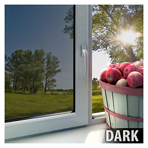 BDF EXS15 Exterior Window Film Privacy and Sun Control Silver 15, Dark - 48in X 50ft by Buydecorativefilm (Image #3)