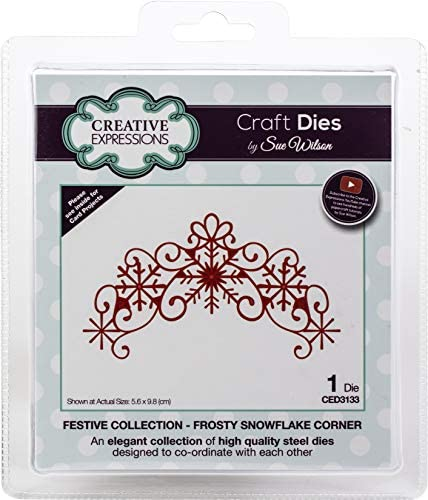 Creative Expressions Festive Craft Dies By Sue Wilson-Frosty Snowflake Corner