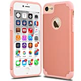 iPhone 7 Case, CaseHQ Slim Anti-Scratch Protective Heavy Duty Dual layer PC Rugged Shockproof Bumper Case Non-slip Grip Protection Cover for iPhone 7 rosegold