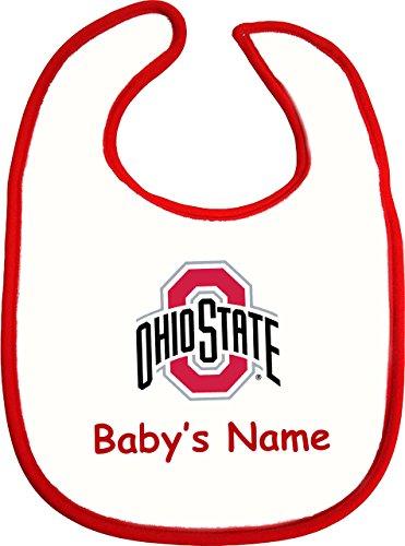 Onesie Cotton Ohio (Future Tailgater Ohio State Buckeye Personalized 2 Ply Baby Bib)