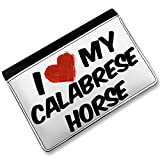 RFID Passport Holder I Love my Calabrese Horse, Cover Case / Wallet - Neonblond