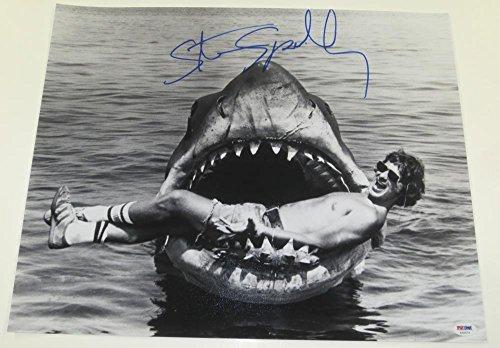 STEVEN SPIELBERG SIGNED 16X20 PHOTO JAWS E.T. AUTHENTIC AUTOGRAPH PROOF PSA/DNA - Psa Dna Autographs