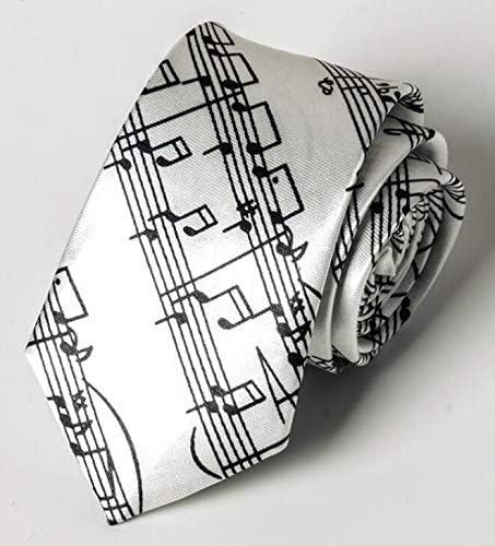 Corbata de caballero para hombre con notas musicales impresas ...