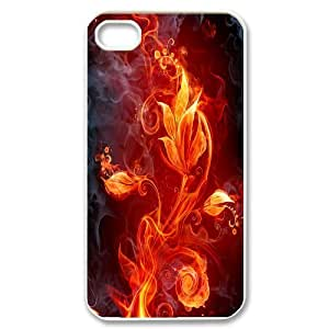 ZK-SXH - Fire Flower Customized Hard Back Case for iPhone 4,4G,4S, Fire Flower Custom Case