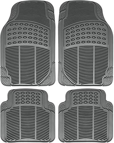 - Motorup America Auto Floor Mats (4-Piece Set) All Season Rubber - Fits Select Vehicles Car Truck Van SUV, Ridge Gray