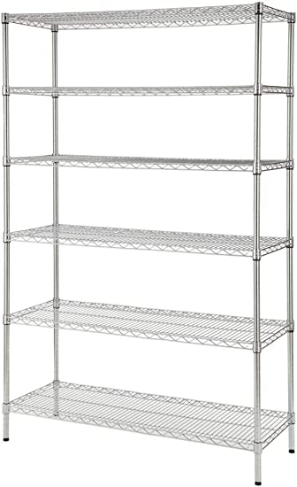 Hdx 48 In W X 72 In H X 18 In D Decorative Wire Chrome Finish Commercial Shelving Unit Furniture Decor