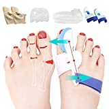 Bunion Corrector Splint Relief Kit - Orthopedic Bunion Pads Toe Separators Spacers Straighteners for Tailors Bunion Hallux Valgus Big Joint Hammer Toe Women and Men (4 Pairs)