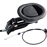 """Recliner Replacement Parts - Universal Oval Black Plastic Recliner Release Pull Handle and Cable, Exposed Cable Length 4.75"""", Total Length is Medium at 31"""", fits Ashley and Major Recliner Brands Sofa"""