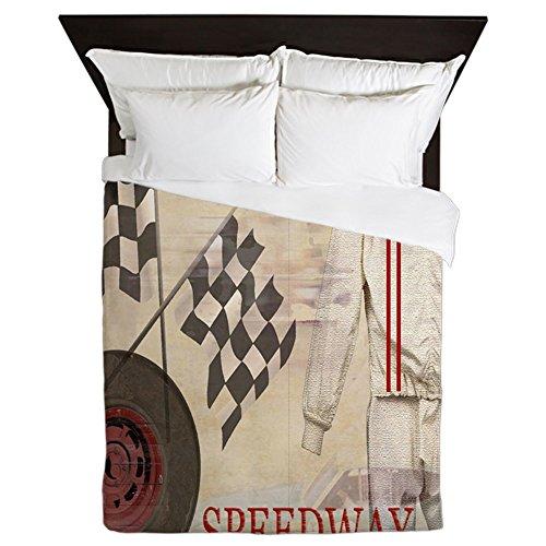 CafePress - Speedway - Queen Duvet Cover, Printed Comforter Cover, Unique Bedding, Microfiber (Speed Queen Racing)