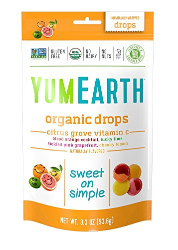 Jelly Drop Lemon Beans - YumEarth Organic Citrus Grove Vitamin C Drops, 3.3 Ounce Pouches (Pack of 6)