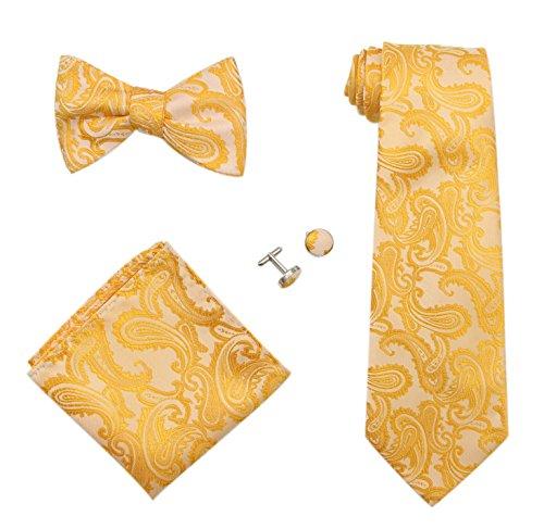 Yellow Paisley Tie - 6