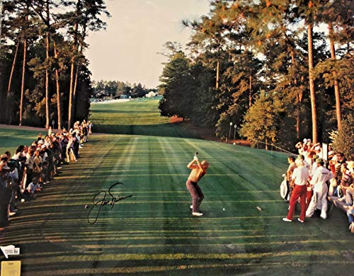 (Signed Jack Nicklaus Photo - 16x20 Masters Drive Fanatics Golden Bear - Fanatics Authentic)