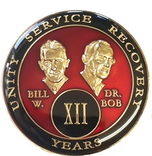 - 27 Year Red Bill & Bob Tri-Plate Alcoholics Anonymous Medallion- AA Sobriety Chip