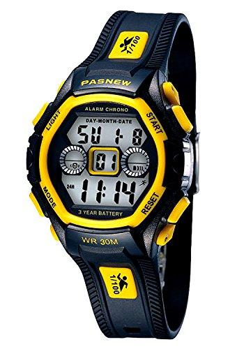 Watch Girls Yellow (Waterproof Boys/Girls/Kids/Childrens Digital Sports Watches for 5-12 Years Old (yellow))