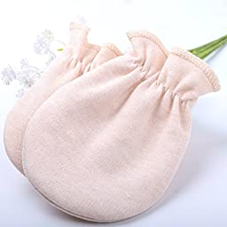Newborn Unisex Baby Scratch Mittens Gloves 100% Cotton Infant No Scratch Mittens Gloves,3 Pairs Mix Color