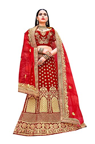 Indian Partywear Facioun Choli Traditional Ethnic Lehenga Da Designer Red Women vxO5CqqIw