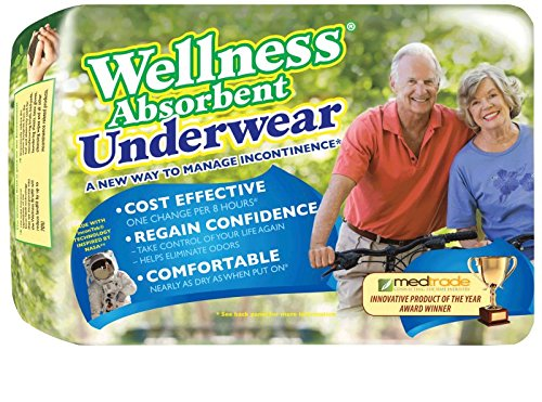 Wellness Absorbent Underwear w/ NASA Technology, Large, Pack/16 Absorbent Underwear