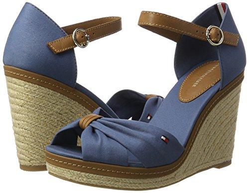 Compensées Sandales Femme 013 56d Bleu Hilfiger Tommy jeans E1285lena aqwnSxH1I6