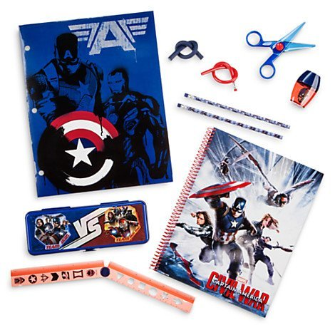 Stationery Supply Kit Captain America: Civil War