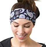 Purple Paisley Headband  One Size