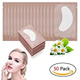 #9: Adecco LLC 50 Pairs Eye Gel Pads, Eyelash Extension Under Eye Pads, Lint Free Lash Extension Under Eye Gel Patches for DIY False Eyelash Extension Makeup Supplies, Eye Mask Beauty Tool