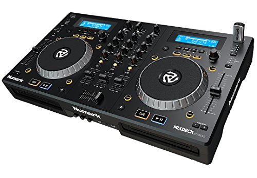 Numark MixDeck Express | Premium DJ Controller with CD & USB Playback [Current - Cd Controller Player