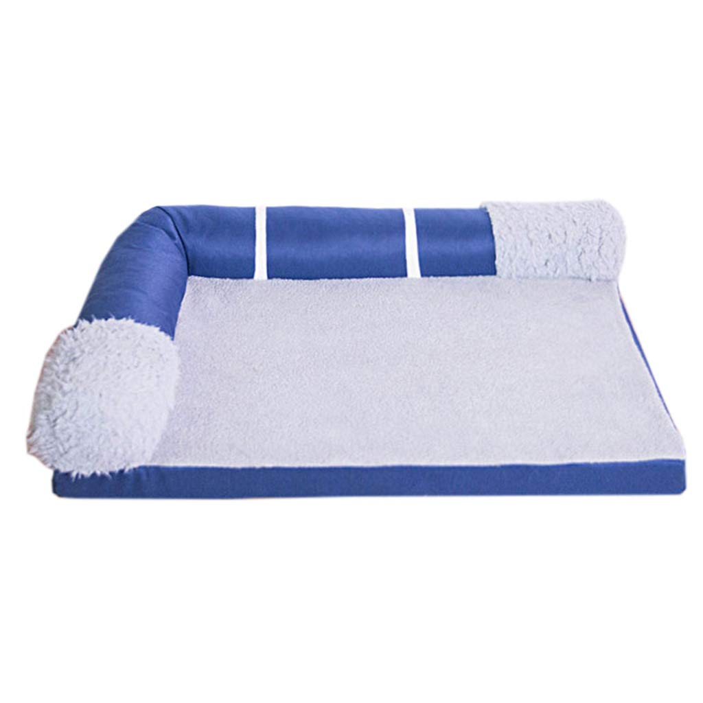 Cama perro Cama de Felpa para Mascotas: Cama ortopédica Rectangular para Perros, sofá, Funda extraíble, Azul (Tamaño : M 80×60×16cm): Amazon.es: Hogar