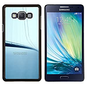 "Be-Star Único Patrón Plástico Duro Fundas Cover Cubre Hard Case Cover Para Samsung Galaxy A7 / SM-A700 ( Éxito Viaje Destino Cita Puente"" )"