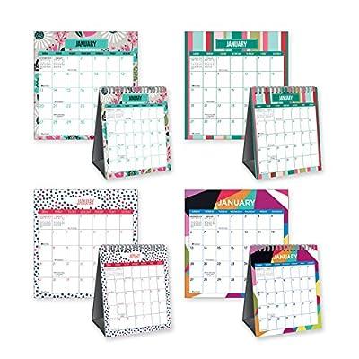 Pack of 4 Standing Desk Calendars -12 Month for 2019 Year Desk Calendars