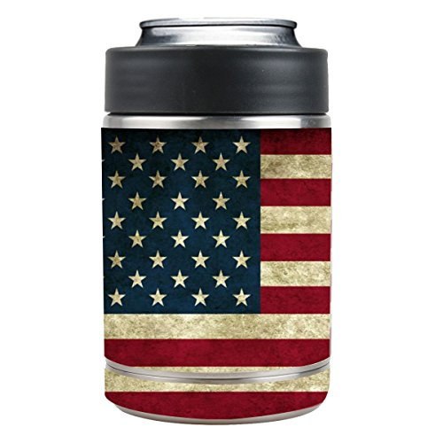 Grease Diy Costumes (Vinyl Stickers for Yeti Colster Cup - Decals for RTIC Can - Waterproof Sticker for Cups Personalized Non-slip for DIY Your YETI Rambler Cooler Tumbler - America Flag)