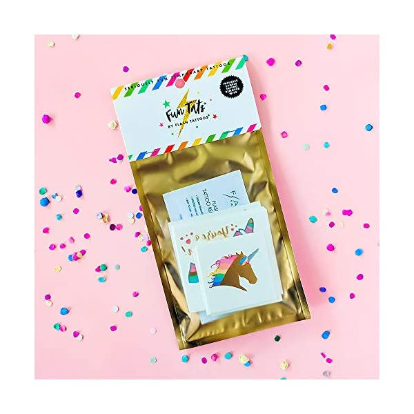 Unicorn Dreams Variety Set of 24 assorted premium waterproof metallic gold rainbow temporary foil Flash Tattoos, unicorn tattoo, gold tattoo, tattoo set, kids temporary tattoo, kids party favor 10