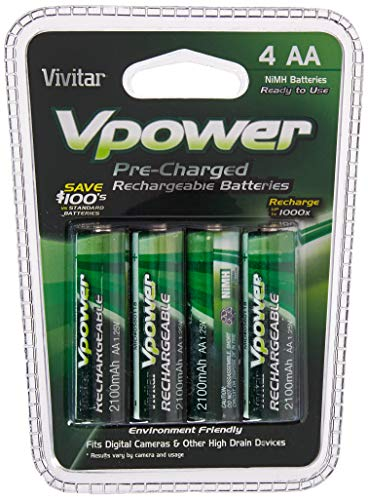 Vivitar Ni-MH 4 AA Batteries (VIV-P4AA-2100)