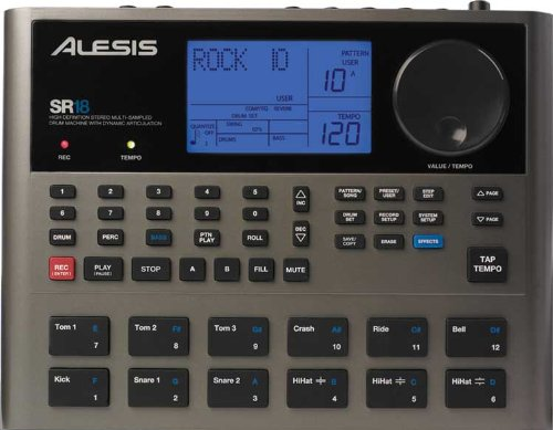 Alesis SR18 | High-Definition Multi-Sampled Electronic Drum Machine with Dynamic Articulation & Effects Engine by Alesis