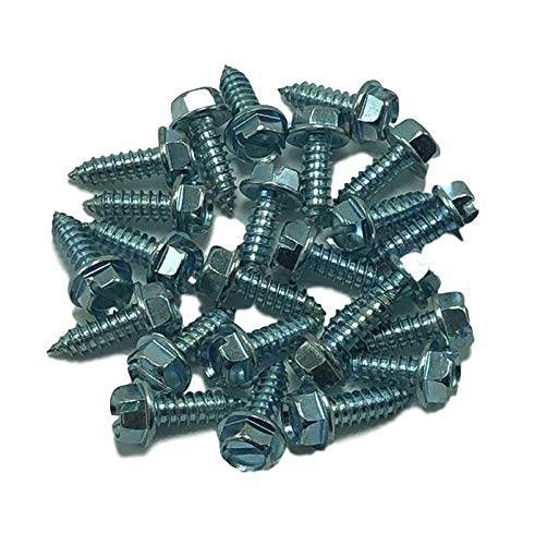 FESCO 61 Piece Car Dealer Selling Kit Rubber and Magnetic License Plate Holders and Screws with Nylon Inserts FESLLC