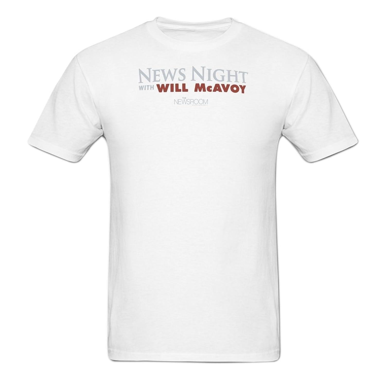 Extremen Men's News Night Short Sleeve T Shirt O Neck