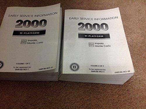 2000 GM Chevy Chevrolet Impala Monte Carlo Service Shop Repair Manual SET OEM