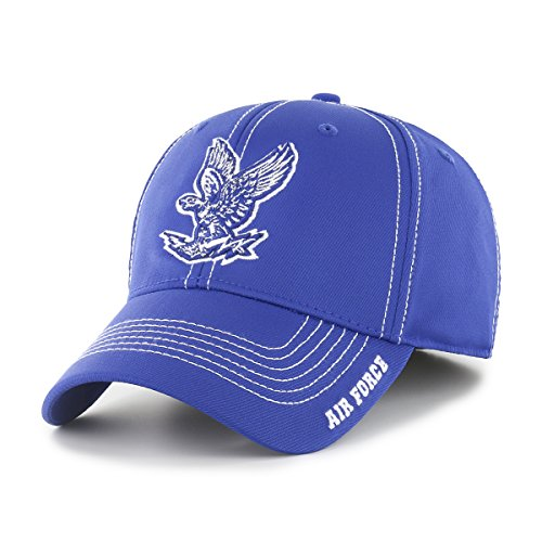 (NCAA Air Force Falcons Adult Start Line Ots Center Stretch Fit Hat, Large/X-Large, Royal)