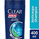 Shampoo Anticaspa Clear Men Ice Cool Menthol 400 ml, Clear