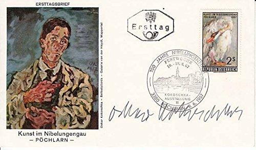 Kokoscha Oskar 1886 1980 Signed Austrian First Day