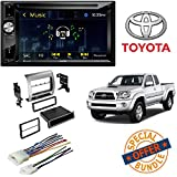 "Jensen 6.2"" High Resolution Touchscreen w/DVD Player & Bluetooth Control Car Radio Stereo Single Double DIN Dash Kit Harness for 2005-2011 Toyota Tacoma"