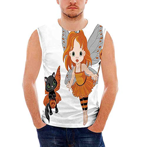 Mens Apparel Mens Triblend Blotter Tank Top Halloween,Halloween Baby Fairy an ()