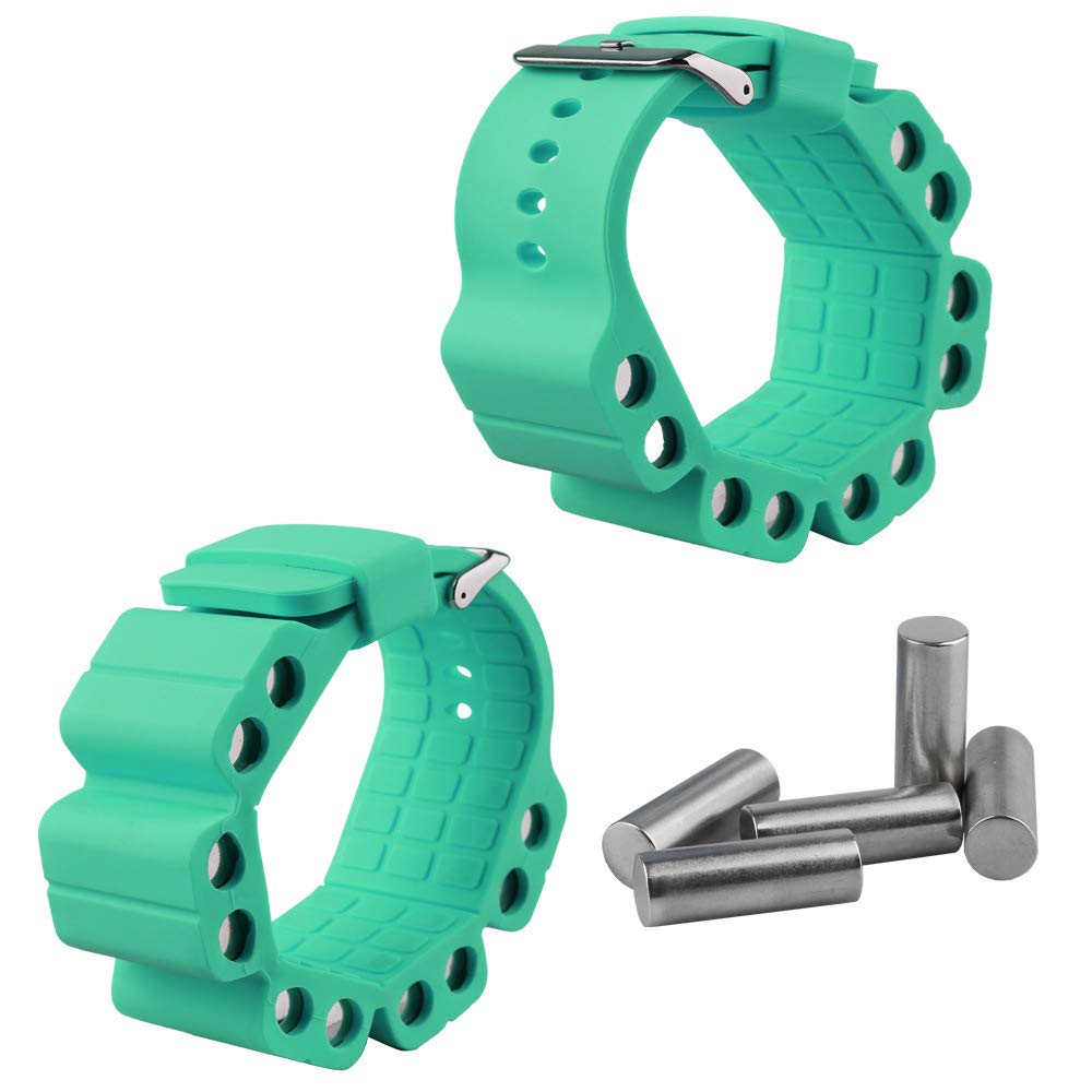 Wrist Weights, Adjustable Fitness Wearable Weighted Wristbands to Increase Arm & Leg Explosiveness and Endurance Training for Dance Barre Pilates Bounce Yoga Cardio Walking and Home Exercise (Green) by Ueasy (Image #2)