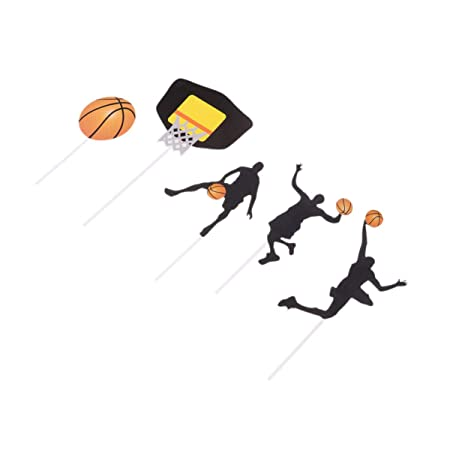 UPKOCH 25 piezas fiesta pastel topper baloncesto tema fiesta ...