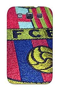 Special Improviselike Skin Case Cover For Galaxy S3, Popular Fc Barcelona Logo Phone Case For New Year's Day's Gift