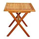 Foldable Tables and Chairs for Sale LuuNguyen Outdoor Hardwood Folding Table(Natural Wood Finish)