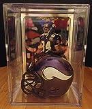 Minnesota Vikings Helmet Shadowbox w/ Randy Moss card