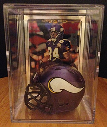 Minnesota Vikings Helmet Shadowbox w/ Randy Moss card