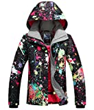 APTRO Women's High Windproof Technology Colorfull Printed Ski Jacket Style #897 Size M