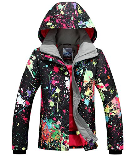 APTRO Women's High Windproof Technology Colorfull Printed Ski Jacket Style #897 Size L by APTRO